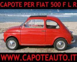 Capote Fiat 500 pvc nero