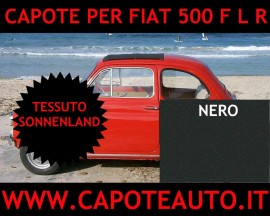 Capote Fiat 500 FLR Nero