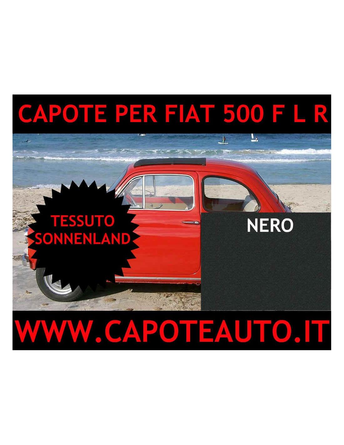 CAPOTTINA CAPOTE CAPOTTA IN TELA NERA FIAT 500 F L R
