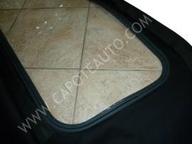 Capote Fiat Barchetta Pvc nero lunotto con zip (originale)